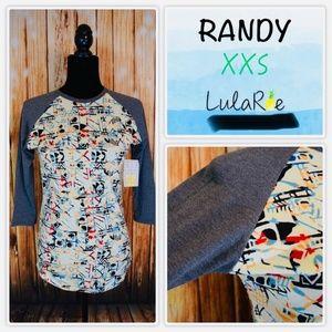 Lularoe Randy Women's 2XS Multicolor Gray Sleeve